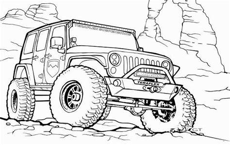 kostenlos jeep ausmalbilder zum ausdrucken kinder fuer