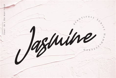jasmine font     sleep creative fabrica
