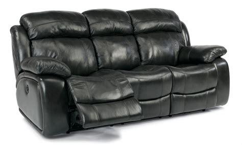 flexsteel leather reclining sofa flexsteel living room leather power reclining sofa 1409