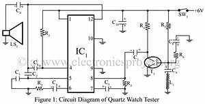 quartz watch tester electronics project With this is the schematic diagram of quotspunky39squot preamplifier circuitry