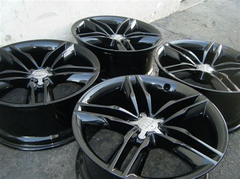 audi   wheels rims factory oem stock black finish