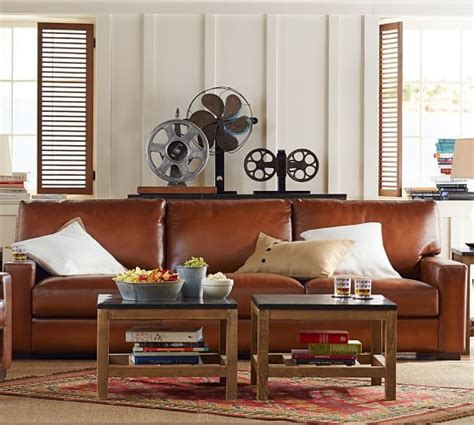 pottery barn leather sofas sectionals chairs 15 off sale