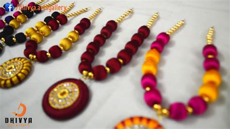 How To Make Silk Thread Necklace At Home Terracotta Small Earrings Kohls Jewelry Vera Wang Peridot On Sale Jewellery Jabong Porur For Sarees Designer Jaipur