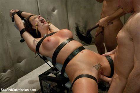 Chanel Preston Dp With Pigtails Dick And Tons Of Sperm