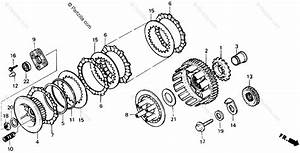 Honda Motorcycle 1989 Oem Parts Diagram For Clutch