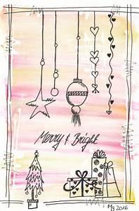 Weihnachtskugeln Selbst Gestalten : weihnachtskarten selber machen lettering aquarell ~ Lizthompson.info Haus und Dekorationen