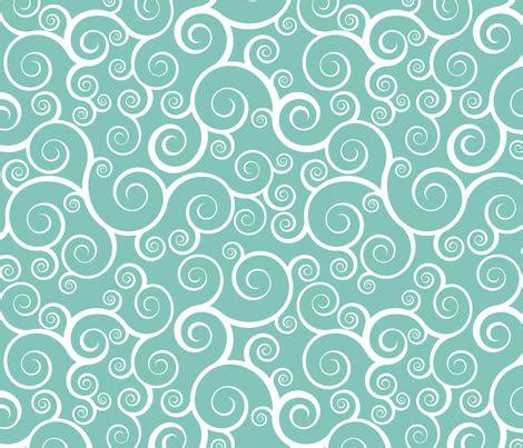 fancy swirls white  teal wallpaper shelleymade