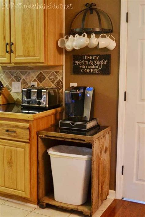 They are worded in puns to old. 30 Extraordinary Creative and Graphic DIY Mug Storage To Beautify Your Kitchen | Home coffee ...