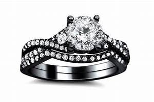 Black wedding rings meaning the symbol of a strong for Womens black diamond wedding rings
