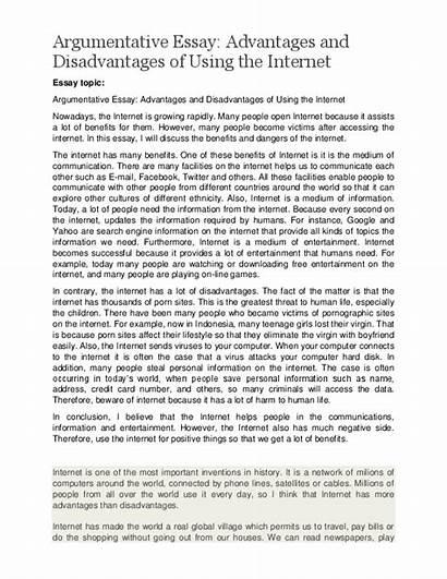 Essay Internet Advantages Disadvantages Bad Essays Expository