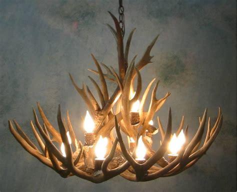 small bristlecone mule deer antler chandelier
