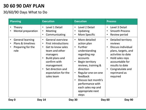 30 60 90 day sales plan template exles 30 60 90 day sales plan template template business