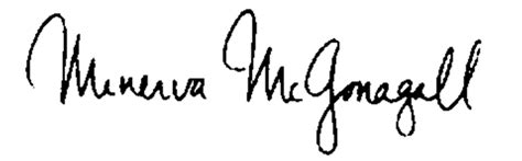 harry potter 2 la chambre des secrets fichier mcgonagall signature png wiki harry potter