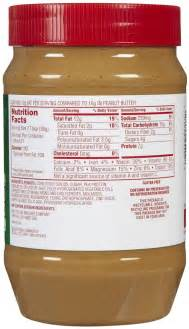 Reduced Fat Jif Peanut Butter Nutrition
