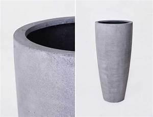 Pflanzkübel Beton Hoch : neue pflanzk bel aus fiberglas im trendigen beton design pflanzk bel blog von ae trade ~ Whattoseeinmadrid.com Haus und Dekorationen