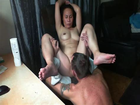Mature Asian Licked And Eaten To Orgasm Watching Porn At