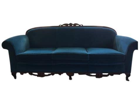 Peacock Blue Loveseat by Peacock Blue Velvet Sofa Chairish