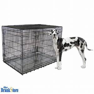 Large dog crate xxl kennel extra huge folding pet wire for Giant breed dog kennel