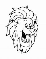 Coloring Pages Lion Funny Head Face Printable Getdrawings Getcolorings sketch template