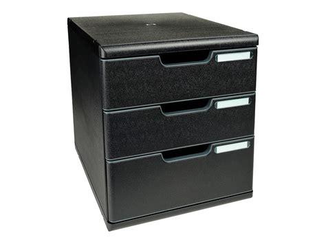 bloc tiroir bureau exacompta ecoblack modulo bloc de classement à tiroirs