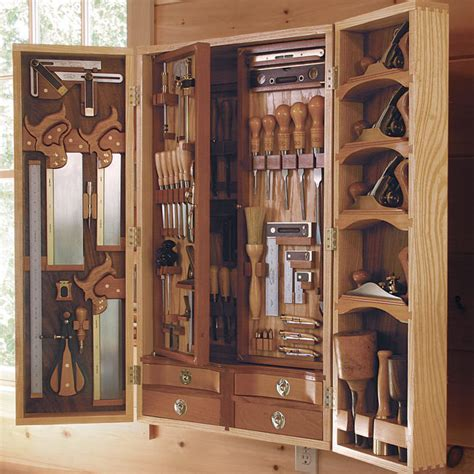 Wooden Tool Storage Cabinet Plans by Dan Smith S Shop And Tool Chest Finewoodworking