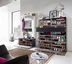 Garderobe Mit Schuhbank : 3 tlg garderobe paneel schuhbank schuhschrank ca 57 paar glasfront spiegel diele flur ~ Indierocktalk.com Haus und Dekorationen