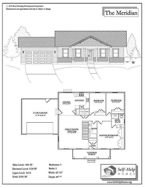Mutual Self Help Housing Floor Plans  House Design Plans