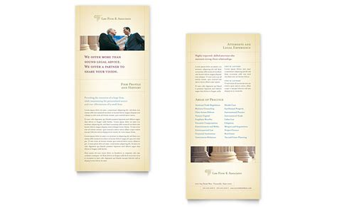 rack cards templates word attorney services rack card template word