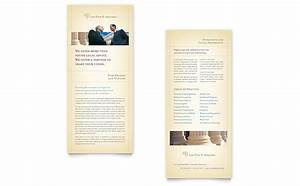 attorney legal services rack card template word With rack card template for word