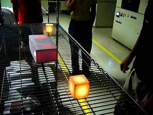 Space Shuttle Thermal Tile Demonstration - YouTube