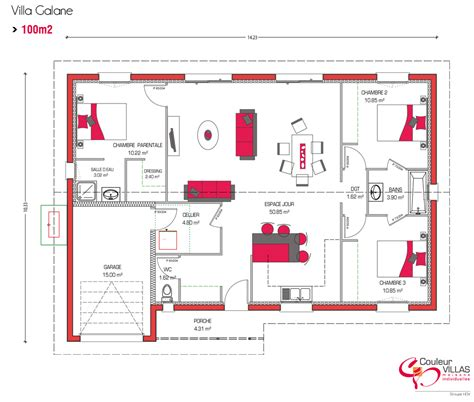 plan maison moderne gratuit 3d home decor best 100m2 ideas on pdf plain pied and