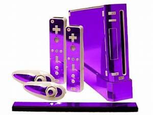 Purple Wii Purple Chrome Nintendo Wii Gaming Console