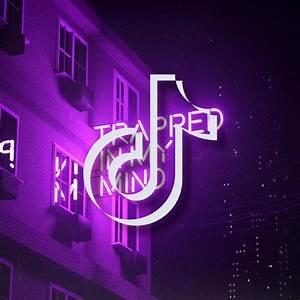 purple, neon, lights, tiktok, icon