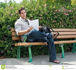 Sitting On Park Bench Royalty Free Stock Image - Image ...