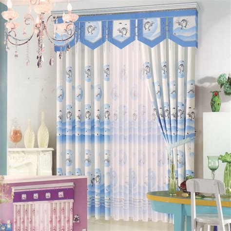 Bedroom Curtains With Valance by Dolphin Patterns Blue Curtains For Bedroom No Valance