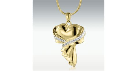 gift  love solid  gold cremation jewelry engravable