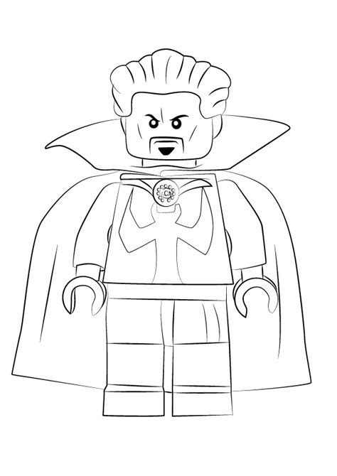 lego doctor strange coloring page  printable