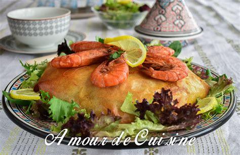 recette de cuisine marocaine choumicha pastilla au poisson et fruits de mer amour de cuisine
