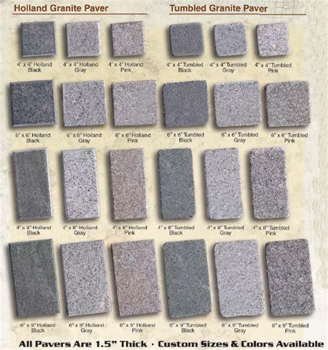 granite pavers granite paving pattern and sizes