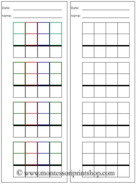 montessori math worksheets montessori math worksheets