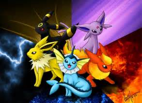 Pokemon All Eevee Evolutions
