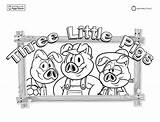 Pigs Three Coloring Pages Story Printable Colouring Wolf Printables Clipart Template Books Away Mr Popular Templates Library Coloringhome App Trending sketch template