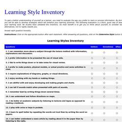 Learning Style Inventory Test