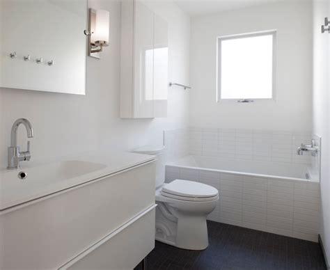 Contemporary White Bathroom  Contemporary Bathroom