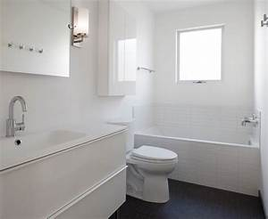 Contemporary White Bathroom - Contemporary - Bathroom ...