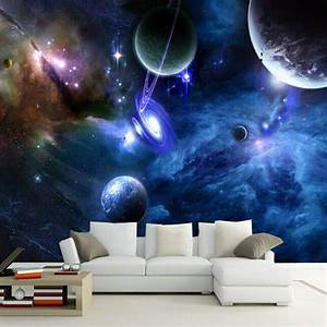 Aliexpress.com : Buy Custom 3D Murals Galaxy Fluorescent ...