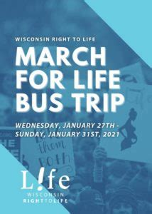2021 March for Life Flyer no crops – Wisconsin Right to Life