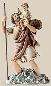 Saint Christophe Patron : st christopher statue 6 inch ~ Medecine-chirurgie-esthetiques.com Avis de Voitures