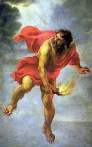 The Myth of Prometheus, myth of fire stolen by Prometheus