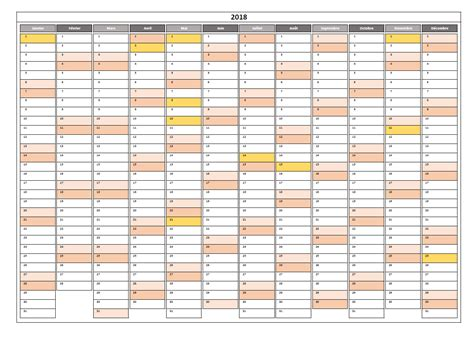 calendrier annuel excel congs france horizontal pictureicon